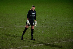 BIRKENHEAD, ENGLAND - Sunday, March 28, 2021: Liverpool's goalkeeper Rylee Foster on the half-way line as the Reds seek a winning goal during the FA Women's Championship game between Liverpool FC Women and Blackburn Rovers Ladies FC at Prenton Park. The game ended in a 1-1 draw. (Pic by David Rawcliffe/Propaganda)