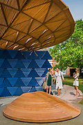 The new Serpentine Pavillion designed by Francis Kere is opened outside the gallery in Hyde Park.