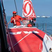 Leg 10, from Cardiff to Gothenburg, day 01 on board MAPFRE, leg start. 10 June, 2018.