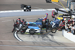 November 12, 2017 - Avondale, Arizona, United States of America - November 12, 2017 - Avondale, Arizona, USA: Ryan Blaney (21) comes in for service during the Can-Am 500(k) race at the Phoenix Raceway in Avondale, Arizona. (Credit Image: © Walter G Arce Sr Asp Inc/ASP via ZUMA Wire)