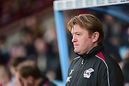 Scunthorpe United manager Stuart McCall during the EFL Sky Bet League 1 match between Scunthorpe United and Wycombe Wanderers at Glanford Park, Scunthorpe, England on 29 December 2018.