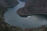 SHOT 6/7/16 7:37:06 PM - Flaming Gorge Reservoir straddles the Utah-Wyoming border and was completed in 1964. The reservoir is mainly in southwest Wyoming and partially in northeastern Utah. The northern tip of the reservoir is 10 miles southeast of Green River, Wyoming, 14 miles southwest of Rock Springs, Wyoming, and 43 miles north of Vernal, Utah. Visitors enjoy world class fishing, hiking, boating, windsurfing, camping, backpacking, cross-country skiing, and snowmobiling within Flaming Gorge National Recreation Area, which is operated by Ashley National Forest. (Photo by Marc Piscotty / © 2016)