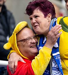 Birmingham City's fan dressed up as Winnie the Pooh