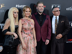 Writer Victoria Gotti, actors Kelly Preston, John Travolta and John A. Gotti attending the New York Premiere of 'Gotti' at SVA Theater on June 14, 2018 in New York City, NY, USA. Photo by Dennis Van Tine/ABACAPRESS.COM