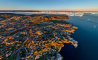 Aerial view of Ilulissat, Greenland.