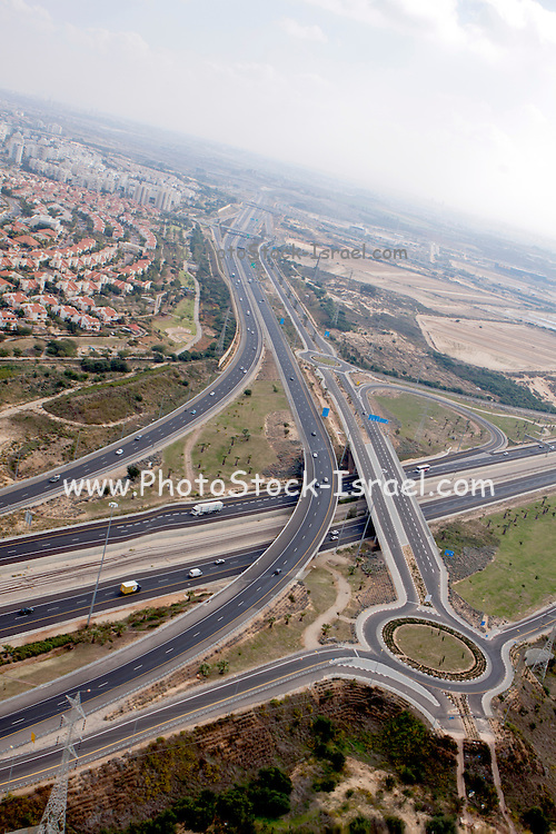 Aerial Photography of the Negev Desert landscape, Israel Kama Intersection