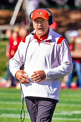 NORMAL, IL - October 16:  Brock Spack during a college football game between the NDSU (North Dakota State) Bison and the ISU (Illinois State University) Redbirds on October 16 2021 at Hancock Stadium in Normal, IL. (Photo by Alan Look)