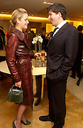 Henry Mainwaring and Lady Eloise Anson, Burberry party to launch collection in  support of Breakthrough Breast Cancer. New Bond St. shop. Londddon. 5 October 22004. ONE TIME USE ONLY - DO NOT ARCHIVE  © Copyright Photograph by Dafydd Jones 66 Stockwell Park Rd. London SW9 0DA Tel 020 7733 0108 www.dafjones.com
