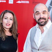 NLD/Amsterdam/20170814 - Premiere The Hitmans Bodyguard, Peter Post met partner