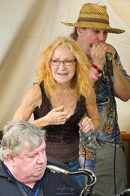 Members of Garry Cogdell & Friends including Carol Moog at The Riverfront Blues Festival in Wilmington, DE.