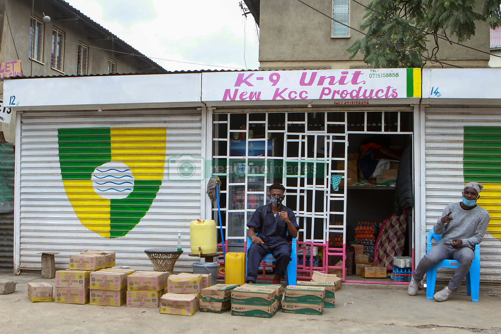 May 8, 2020, Nairobi, Kenya: An open shop on Muinami Street, Pumwani during lockdown..On 06 May 2020, the Kenyan government announced a 15-day lockdown order in Eastleigh, Nairobi and the Old town area in the port city of Mombasa over rising cases of COVID-19 in these areas. The lockdown, among other preventative measures, was implemented to curb the spread of the virus. (Credit Image: © Boniface Muthoni/SOPA Images via ZUMA Wire)