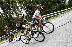Giovanni Visconti (ITA) of Bahrain-Merida, Jack Haig (AUS) of Orica - Scott and Rafal Majka (POL) of Bora - Hansgrohe during Stage 3 of 24th Tour of Slovenia 2017 / Tour de Slovenie from Celje to Rogla (167,7 km) cycling race on June 16, 2017 in Slovenia. Photo by Vid Ponikvar / Sportida