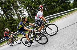 Giovanni Visconti (ITA) of Bahrain-Merida, Jack Haig (AUS) of Orica - Scott and Rafal Majka (POL) of Bora - Hansgrohe during Stage 3 of 24th Tour of Slovenia 2017 / Tour de Slovenie from Celje to Rogla (167,7 km) cycling race on June 16, 2017 in Slovenia. Photo by Vid Ponikvar / Sportida