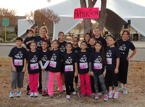For the third consecutive year, female students at Patterson Elementary participated in the Girls on the Run 5K. Sponsored by teachers on campus, 20 students in third through fifth grades joined 500 girls from all over Houston at Cy-Fair's Bear Creek Park to finish the race. Girls on the Run is a national association that educates female students in the areas of health and self esteem.<br /> To submit photos for inclusion in eNews, send them to hisdphotos@yahoo.com.