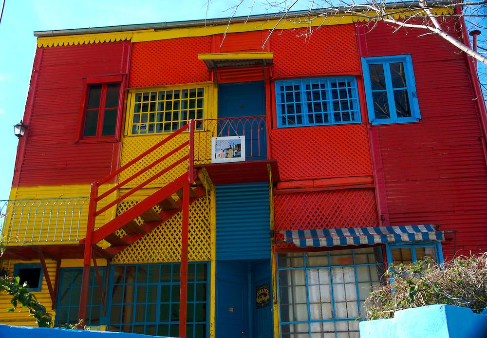 Atelier on Caminito Street, in La Boca, Buenos Aires, Argentina,