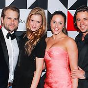 NLD/Amsterdam/20130322- Emma Fund Rasing avond 2013, Mike Meijer en partner Marly van der Velden, Michelle Zijderveld en partner David Bols