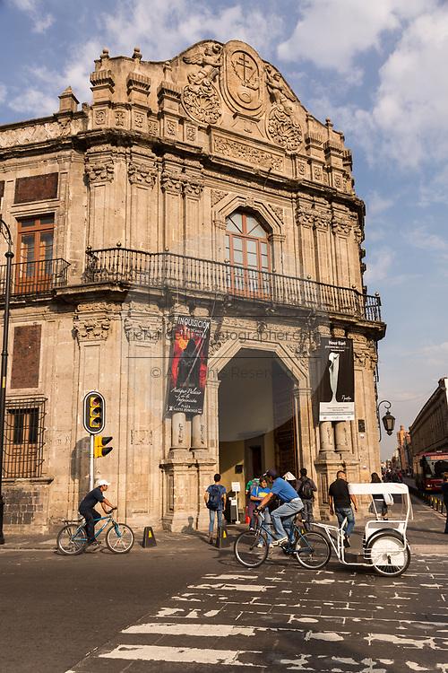 The Palacio de la Escuela de Medicina or Museum of Medicine in the Plaza Santo Domingo historic district of Mexico City, Mexico.