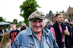 © Licensed to London News Pictures. <br /> 05/06/2014. <br /> <br /> Appleby, Cumbria, England<br /> <br /> A man reacts to the camera as gypsies and travellers gather during the annual horse fair on 5 June, 2014 in Appleby, Cumbria. The event remains one of the largest and oldest events in Europe and gives the opportunity for travelling communities to meet friends, celebrate their music, folklore and to buy and sell horses.<br /> <br /> The event has existed under the protection of a charter granted by King James II in 1685 and it remains the most important event in the gypsy and traveller calendar.<br /> <br /> Photo credit : Ian Forsyth/LNP