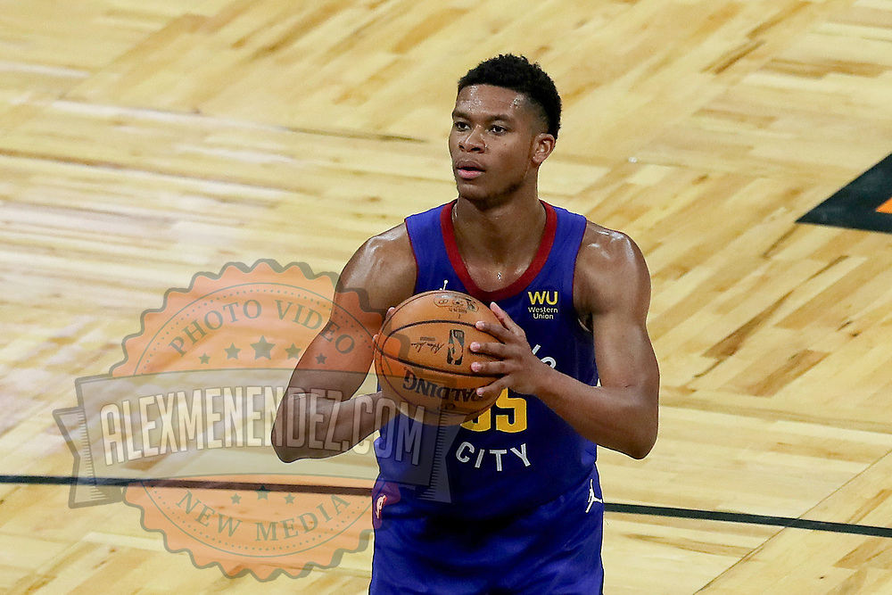 ORLANDO, FL - MARCH 23:  PJ Dozier #35 of the Denver Nuggets shoots the ball against the Orlando Magic at Amway Center on March 23, 2021 in Orlando, Florida. NOTE TO USER: User expressly acknowledges and agrees that, by downloading and or using this photograph, User is consenting to the terms and conditions of the Getty Images License Agreement. (Photo by Alex Menendez/Getty Images)*** Local Caption ***  PJ Dozier