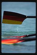 Banyoles, SPAIN, German Men's Quadruple Sculls. Sculls at the start Gold Medalist  1992 Olympic Regatta, Lake Banyoles, Barcelona, SPAIN. GER M4X. Crew; Andreas HAJEK , Michael STEINBACH , Stephan VOLKERT , Andre WILLMS.   [Mandatory Credit: Peter Spurrier: Intersport Images]