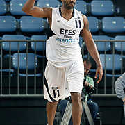 Efes Pilsen's Bootsy THORNTON during their Turkish Basketball Legague Play-Off qualifying second match Efes Pilsen between Pinar Karsiyaka at the Sinan Erdem Arena in Istanbul Turkey on Friday 13 May 2011. Photo by TURKPIX