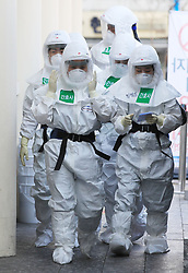 March 23, 2020, Daegu, South Korea: New coronavirus Medical workers in protective gear walk to begin a shift for the service of people infected with the new coronavirus at a hospital in the southeastern city of Daegu, the epicenter of South Korea's COVID-19 virus outbreak. (Credit Image: © Yonhap News/Newscom via ZUMA Press)