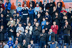 Minutes applause for former Falkirk director Malcolm Allan. <br /> Falkirk 0 v 3 Hearts, Scottish Championship game played 21/3/2015 at The Falkirk Stadium.
