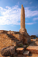 Column from the temple of Apollo, the Greek archaeological site of Ancient Aegina, Kolna, Greek Saronic Islands .<br /> <br /> If you prefer to buy from our ALAMY PHOTO LIBRARY  Collection visit : https://www.alamy.com/portfolio/paul-williams-funkystock/aegina-greece.html <br /> <br /> Visit our ANCIENT GREEKS PHOTO COLLECTIONS for more photos to download or buy as wall art prints https://funkystock.photoshelter.com/gallery-collection/Ancient-Greeks-Art-Artefacts-Antiquities-Historic-Sites/C00004CnMmq_Xllw