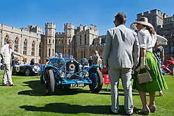 © London News Pictures. 07/09/2012. Windsor, UK . 60 of the rarest motorcars from around the world at Windsor Castle in Berkshire for the WIndsor Castle Concours Of Elegance on September 07, 2012. The three day event is open to the public on Saturday and Sunday. Photo credit: Ben Cawthra/LNP