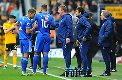 Cardiff City manager Neil Warnock talks to his team - Mandatory by-line: Nizaam Jones/JMP - 02/03/2019 - FOOTBALL - Molineux - Wolverhampton, England -  Wolverhampton Wanderers v Cardiff City - Premier League