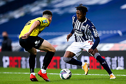 Kyle Edwards of West Bromwich Albion takes on Ryan Fallowfield of Harrogate Town - Mandatory by-line: Robbie Stephenson/JMP - 16/09/2020 - FOOTBALL - The Hawthorns - West Bromwich, England - West Bromwich Albion v Harrogate Town - Carabao Cup