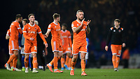 Blackpool's Jay Spearing applauds the fans at the final whistle<br /> <br /> Photographer Chris Vaughan/CameraSport<br /> <br /> The EFL Sky Bet League One - Ipswich Town v Blackpool - Saturday 23rd November 2019 - Portman Road - Ipswich<br /> <br /> World Copyright © 2019 CameraSport. All rights reserved. 43 Linden Ave. Countesthorpe. Leicester. England. LE8 5PG - Tel: +44 (0) 116 277 4147 - admin@camerasport.com - www.camerasport.com