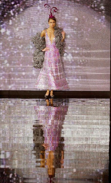 For News....The Giorgio Armani show during Milan Fashion Week