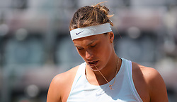 May 14, 2019 - Rome, ITALY - Aryna Sabalenka of Belarus in action during her first-round match at the 2019 Internazionali BNL d'Italia WTA Premier 5 tennis tournament (Credit Image: © AFP7 via ZUMA Wire)