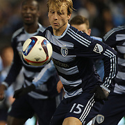 Seth Sinovic, Sporting KC, in action during the New York City FC Vs Sporting Kansas City, MSL regular season football match at Yankee Stadium, The Bronx, New York,  USA. 27th March 2015. Photo Tim Clayton