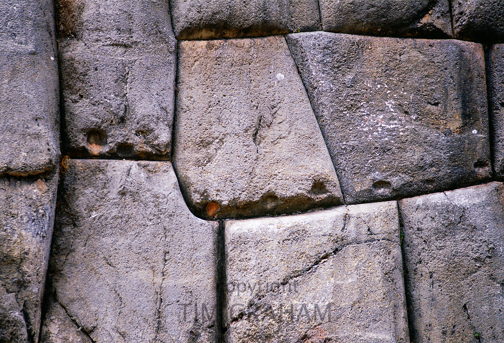 Stone wall of Sacsayhuaman above Cusco in Peru, South America<br /> FINE ART PHOTOGRAPHY by Tim Graham