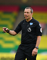 Football - 2019 / 2020 Premier League - Norwich City vs. Burnley<br /> <br /> Referee Kevin Friend who dismissed two Norwich City players in the first half, at Carrow Road.<br /> <br /> COLORSPORT/ASHLEY WESTERN