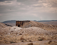 Old mining site outside Rachel, Nevada somewhere near Area 51. Image taken with a Nikon D200 camera and 80-400 mm VR lens.