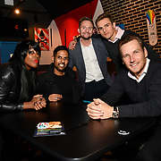 Corene Campbell, Harmesh Gharu,Chris Shannon, Harry Kersley and Georg Torman attend BBC1 All Together Now Series 1 Cast Members, fright night at The London Bridge Experience & London Tombs on 28 October 2018, London, UK.