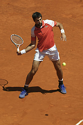 May 9, 2019 - Madrid, Spain - Jeremy Chardy of France against Novak Djokovic  of Serbia during day six of the Mutua Madrid Open at La Caja Magica on May 09, 2019 in Madrid, Spain. (Credit Image: © Oscar Gonzalez/NurPhoto via ZUMA Press)