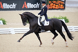 Koschel Christoph (GER) and Donnperignon on the second place in the provisional standings<br /> Alltech FEI World Equestrian Games <br /> Lexington - Kentucky 2010<br /> © Dirk Caremans