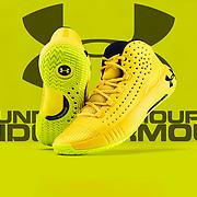 Under Armour, Yellow UA HOVR HAVOC 2 Basketball Shoe, HAVOC 2, Basketball Shoe