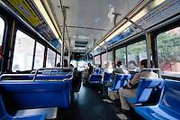 bus interior manhattan in New York City in October 2008