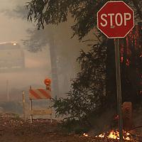 CZU August Lightning Complex burns in the  Bonny Doon and Boulder Creek on Friday August 21, 2020.<br /> (Shmuel Thaler - Santa Cruz Sentinel)