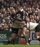 Leicester, Leicestershire, 3rd May 2003, Welford Road Stadium, [Mandatory Credit: Peter Spurrier/Intersport Images],Zurich Premiership Rugby - Leicester Tigers v London Irish<br /> Leon Lloyd