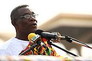Ghana's new president John Atta Mills speaks during his inauguration in Accra, Ghana on Wednesday January 7, 2009.