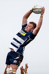 Bristol Rugby Flanker Joe Joyce wins a lineout - Mandatory byline: Rogan Thomson/JMP - 17/01/2016 - RUGBY UNION - Clifton Rugby Club - Bristol, England - Scarlets Premiership Select XV v Bristol Rugby - B&I Cup.