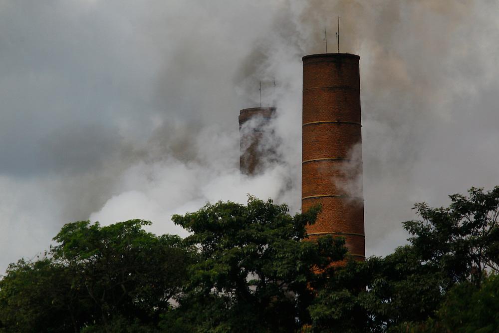Conceicao de Alagoas_MG, Brasil.<br /> <br /> Registro da paisagem, da Fauna e da Flora da Estacao Ambiental de Volta Grande. Na foto chamine de fabrica.<br /> <br /> Landscape, fauna and flora of the Volta Grande Environmental Station. In this photo photo chimney manufactures.<br /> <br /> Foto: JOAO MARCOS ROSA / NITRO