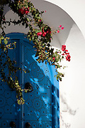 Typical blue and white colouring on doorway in Sidi Bou Said, Tunisia