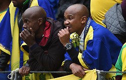 Cape Town-180825- Disappointed Mamelodi Sundowns fans after losing 1-0 to Cape Town City in the MTN 8 semi-final at Cape Town Stadum.Photographer :Phando Jikelo/African News Agency/ANA
